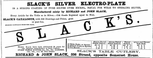 SLACK'S SILVER ELECTRO-PLATE IS A STEONG...